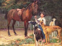 Vaszary János (1867-1939) Agarászat Agarászat magyar agárral.