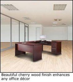 Realspace Broadstreet Contoured U Shaped Desk 30 Quot H X 65