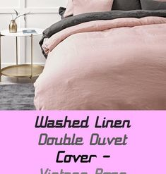 Washed Linen Double Quilt Cowl - Classic Rose - #classic #double #linen #quilt #washed Velvet Upholstered Bed, Double Quilt, Double Duvet Covers, Vintage Men, Cowl, Monogram, Quilts, French Style, Versailles