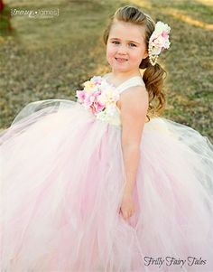 Frilly Fairy Tales - Flower Girl (Floral Motif)