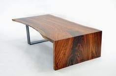 Diving Board Table    Beautiful Design And A Dramatic Walnut Slab Combine To Create This Unique Table Recently Featured In A Designer Showcase Home. #greenwoodbay #liveedge