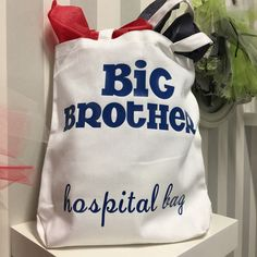 Big Brother tote bag Hospital bag Big Brother by ElleMariCouture