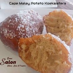 Soft and spicy Cape Malay Potato Koeksisters dipped into the sugar syrup and rolled in coconut. A popular treat in the Cape Malay tradition South African Desserts, South African Recipes, Koeksister Recipe South Africa, Potato Doughnuts Recipe, Baking Recipes, Dessert Recipes, Braai Recipes, Malay Food, Kitchens