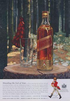 1957 Johnnie Walker Red Label Scotch Whiskey Ad by AdVintageCom
