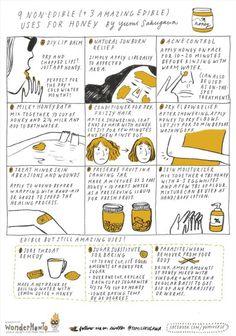 9 non-edible (+ 3 amazing edible) uses for honey #infographic