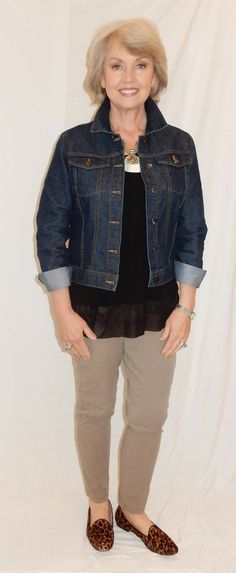 Fifty, not Frumpy: The Versatile Jean Jacket #fashionover50womenfiftynotfrumpy