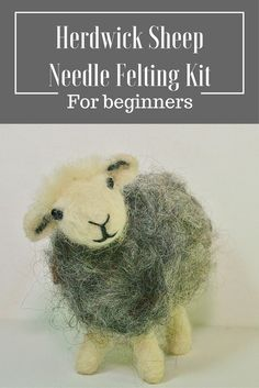 Sheep needle felting kit for beginners from the award winning Lincolnshire Fenn Craft  ~Suitable for complete beginners or those wanting to improve their skills. ~No sewing, no wires.  ~Beautifully presented in an A4 box  ~Contains everything you need to make your own needle felted animal  ~Dozens of step by step photographs and detailed instructions ~Size guide/template  ~Two felting needles  ~Needle and thread plus beads for eyes  ~Quality foam felting pad  ~All wool and suppliers are…