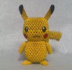 3D Origami - Origami Pikachu