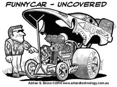 Drag Racing Cartoons | Funny Car Cartoon,Under The Hood