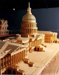 U.S. Capitol made from 478,000 wooden matchsticks by Pat Acton.