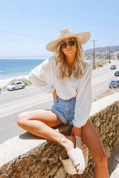 [New] The 10 Best Fashion Ideas Today (with Pictures) - Malibu forever. Linen Monica Blouse is back. Use discount code TRIBES to get off on . Code expires June at am. Trendy Summer Outfits, Cute Casual Outfits, Cute Beach Outfits, Beach Vacation Outfits, Vacation Fashion, Outfit Ideas Summer, Europe Outfits Summer, Casual Beach Outfit, Summer Vacation Style