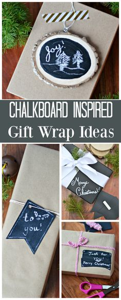 The Life of Jennifer Dawn: 10 Minute Chalkboard Inspired Gift Wrap Ideas