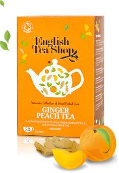 English Tea Shop – Bio gyömbér-őszibarack tea, 20 filter, 40 g