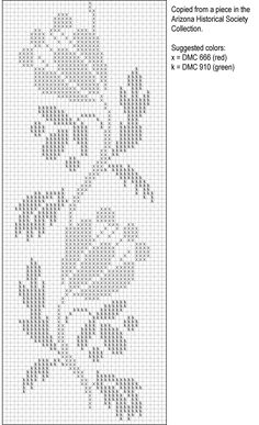 Cross stitch from Arizona Historical Society Collection