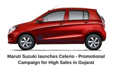 Maruti Suzuki launches Celerio - Promotional Campaign for High Sales in Gujarat