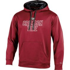 Champion Men's University of Alabama T-Formation Hoodie (Red Medium, Size Large) - NCAA Licensed Product, NCAA Men's Fleece/Jackets at Academy Sports