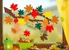 Risultati immagini per fensterbilder herbst Diy And Crafts, Crafts For Kids, Arts And Crafts, Paper Crafts, Autumn Crafts, Autumn Art, Autumn Activities, Art Activities, Decoration Creche