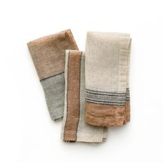 Warm colors on a flax ground, and finished with a mitered corner. Set the mood to everyday meals and formal dinner parties alike with these elegant napkins. The perfect accent to any table setting. Linen Bedding, Linen Fabric, Bedding Sets, Boho, Bohemian Decor, Ikea, Textiles, Casa Cook, Heath Ceramics