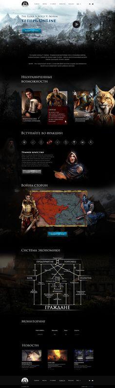 Game site design for the elder scrolls Skyrim Site Design, Web Design, Elder Scrolls Skyrim, Game, Movie Posters, Design Web, Venison, Film Poster, Popcorn Posters