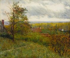 """Giverny Hillside,"" John Leslie Breck, 1887 to oil on canvas, 18 x Terra Foundation for American Art. American Impressionism, Norman Rockwell, Global Art, Art Auction, Art Market, American Art, Oil On Canvas, Fine Art, Master Art"