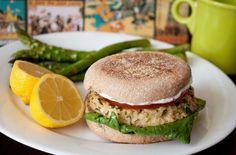 Lemon Tuna Burger - 56 Healthier Burger Recipes for Summer