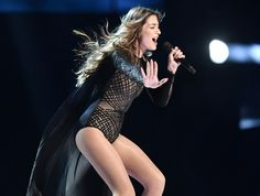 Iveta Mukuchyan of Armenia performs during the first dress rehearsal for the Eurovision Song Contest final in Stockholm, Sweden, Friday, May 13, 2016. (AP Ph...