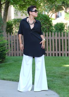 DIY Bell Bottom Pants + Pattern Review Burda 6966 - Mimi G Style