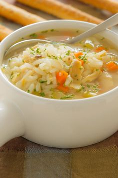 Lemon Chicken Rice Soup Recipe