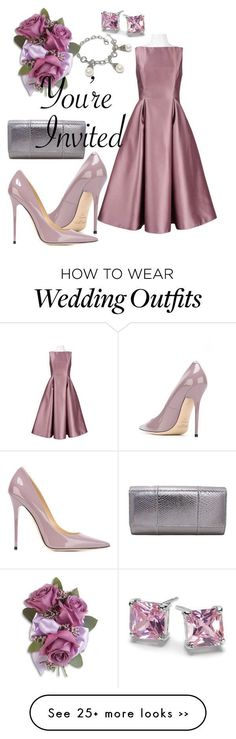 """""""Wedding Guest"""" by shoppe23online on Polyvore featuring Jimmy Choo, jimmychoo, CelebrityWedding and FabulousFashionAccessories"""