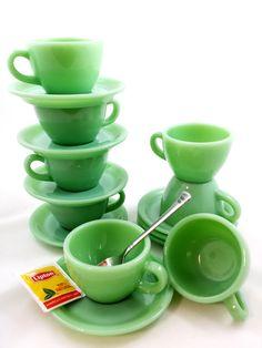 Vintage FIRE KING Jadite Jadeite Cups