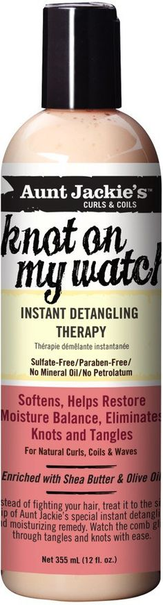Amazon.com : Aunt Jackie's knot on my watch 12oz - Instant Detangling Therapy : Standard Hair Conditioners : Beauty $10.50