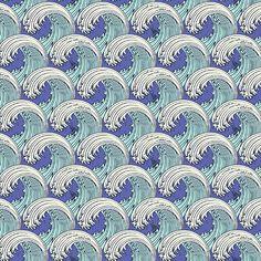 White Caps Aquamarine -Zuma By Tula Pink