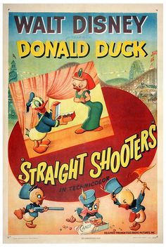 Theatrical poster of Donald Duck in Straight Shooters.