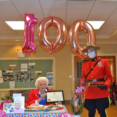 Yvonne celebrated turning 100 with family at a safe distance here at Gilmore Gardens Retirement Residence in Richmond. We're so glad we could help her celebrate this amazing milestone with her lover ones - Happy Birthday Yvonne! 😊🎂 #vervecares #birthday
