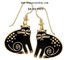 earrings of Laurel Burch -cats