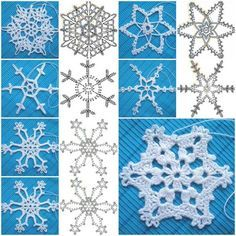 How to crochet these darling snowflake ornaments? They look much more complicated than they really are.   Check pattern --> http://wonderfuldiy.com/wonderful-diy-crochet-snowflakes-with-pattern/
