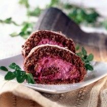 Cocoa biscuit with cowberries (in Estonian)