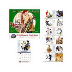 2017 Custom Norman Rockwell Calendars. The Norman Rockwell Wonderful World promotional Variety 13 month printed 2017 Calendars. Great gift for the Christmas Holidays, or any time of the year! New 2014 wholesale discount Calendars available NOW! THEY2665 Savannah GA http://www.alphapromoworld.com/office-products/2017-custom-printed-calendars/custom-printed-norman-rockwell-calendars/cat_268.html