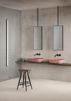 Project by Elisabetta Bongiorni, featuring Kast concrete basin in Blush.