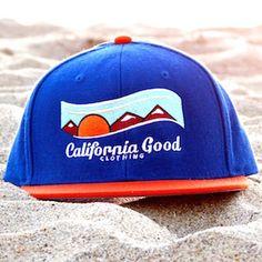 California Good Snapback (royal blue & tangerine)  #hat #california #californiagood #beach #losangeles #la #sunset