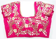 Handmade Gota Patti fine work blouse on by JahanviFashionShop