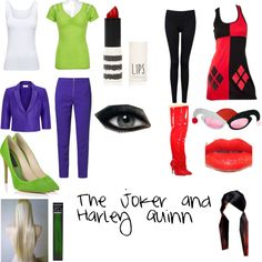 """The Joker and Harley Quinn"" by jojobear104 on Polyvore"