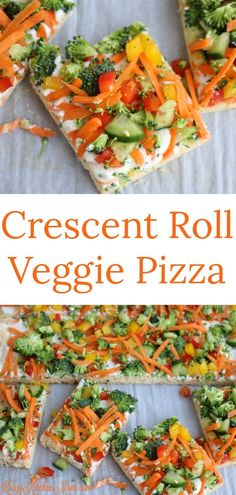 Crescent Roll Veggie Pizza - Made with refrigerato. - Crescent Roll Veggie Pizza – Made with refrigerator crescent rolls, cream cheese, ranch seasoning and fresh veggies Source by krazykitchenmom Crescent Roll Veggie Pizza, Crescent Roll Recipes, Crescent Roll Appetizers, Vegetarian Recipes, Cooking Recipes, Healthy Recipes, Chef Recipes, Easy Cooking, Healthy Cooking