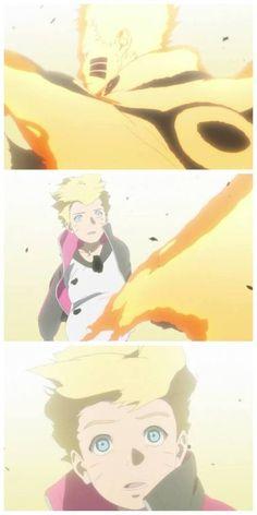 Solo. Voy a decir lo que esta película no me gustó porque o sea Naruto hizo todo en su vida para lograr a lo que es y boruto no boruto y no sé no sé pero no me gusta desprecio a su papá y desprecio todo lo que hizo por su familia por la la aldea