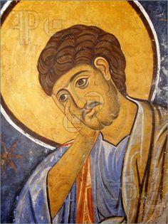 St. Thomas, Eastern Orthodox Christian Style. Beautiful, passionate face.