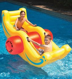 Durable Heavy-Duty Vinyl Sea-Saw Rocking Boat