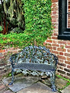 Classic Charleston garden bench.