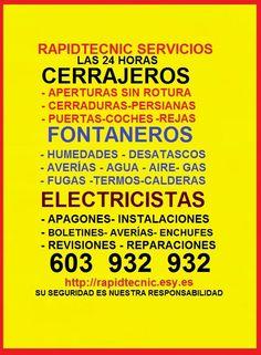 Cerrajeros Beniparrell Fontaneros 603 932 932 en Beniparrell, Comunidad Valenciana
