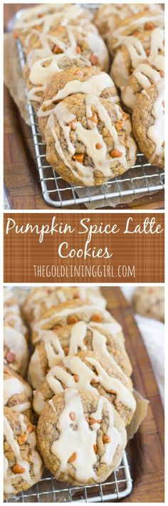 Chewy (not-cakey!) pumpkin cookies, loaded with spice, flavored with coffee, and drizzled with a coffee glaze! Your favorite fall beverage in cookie form.