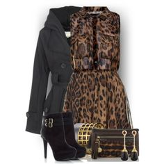 Leopard & Black, created by colierollers on Polyvore